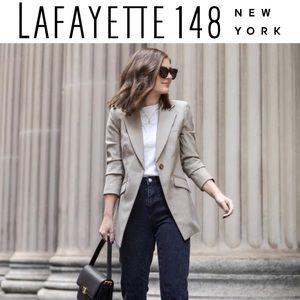 Lafayette 148 NY Linen Blazer in Natural Beige